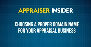 Choosing a proper domain name for your appraisal business